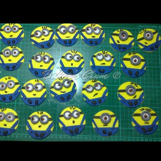 Cake Fondant Caketopper Minions Cupcake Food
