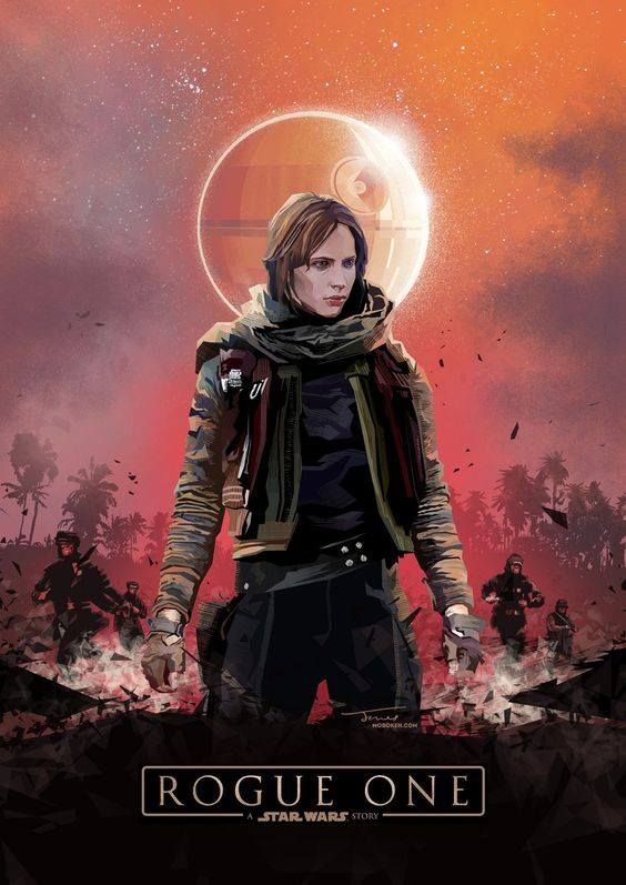 Jyn Erso By Kate Jones Star Wars Canvas Art Star Wars Images Star Wars Painting