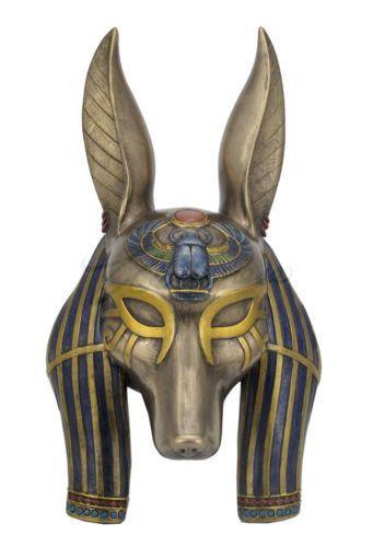 Egyptian-God-Anubis-Mask-Egyptian-Wall-Plaque-Statue-Sculpture-HOME-DECOR
