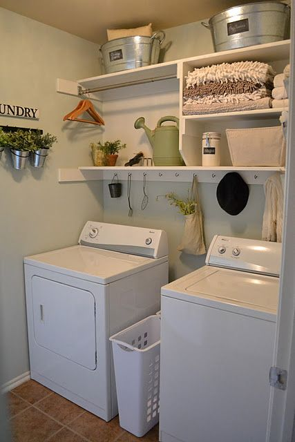 My friend's laundry room she designed on a dime! Proof that beauty on spa in garage, mudroom in garage, guest room in garage, living area in garage, tv room in garage, powder room in garage, game room in garage, bonus room in garage, jacuzzi in garage, utility rooms in the garage, parking in garage, safe room in garage, adding a room in the garage, fishing room in garage, playground in garage, family in garage, storage in garage, recreation room in garage, craft room in garage, storm cellar in garage,
