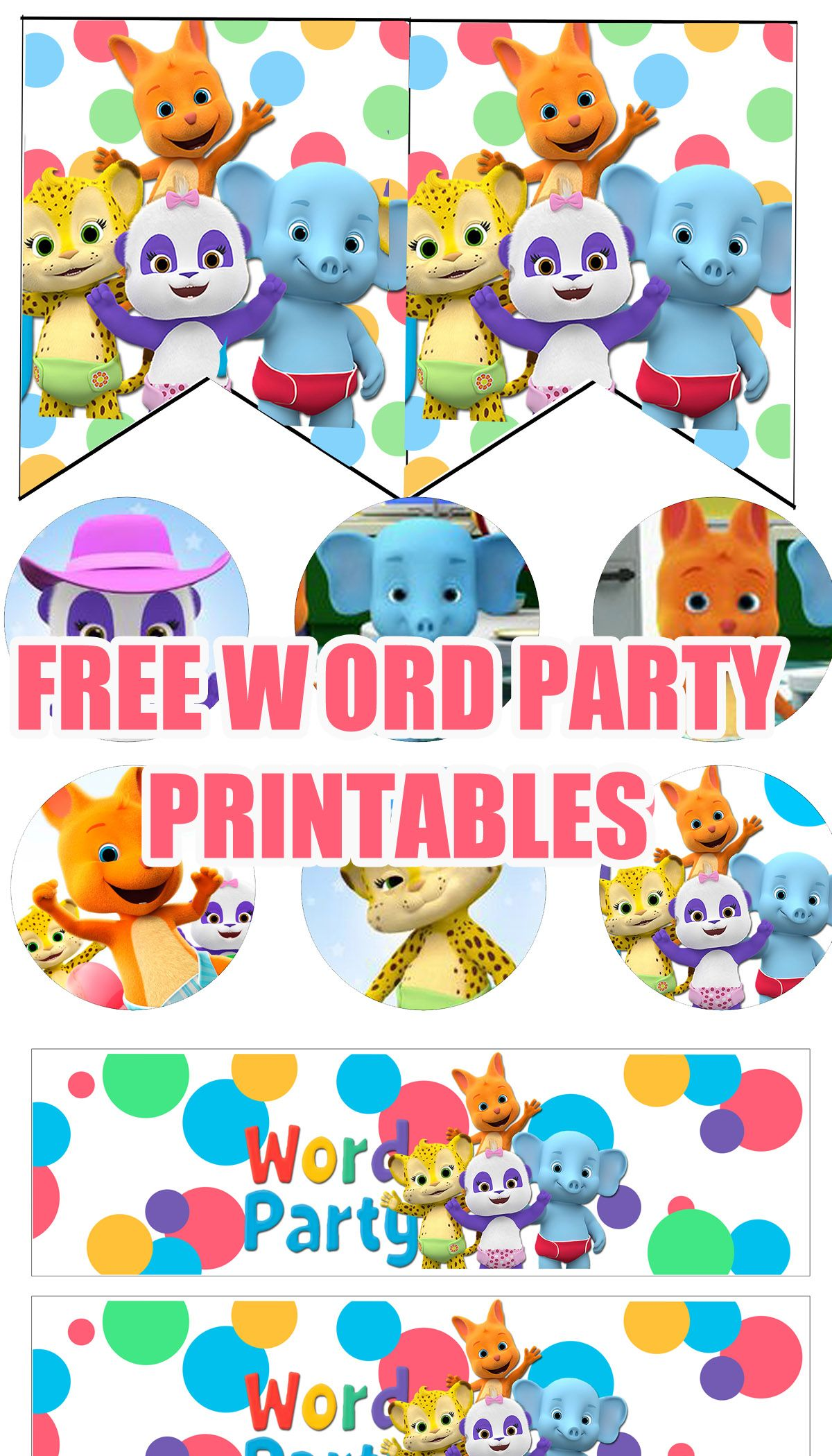 FREE Word Party Birthday Printable Files