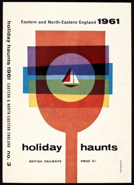 Holiday Haunts Tom Eckersley C1959 1965 Via Vads The Online Resource For Visual Arts Vintage Graphic Design Graphic Poster Graphic Design Posters