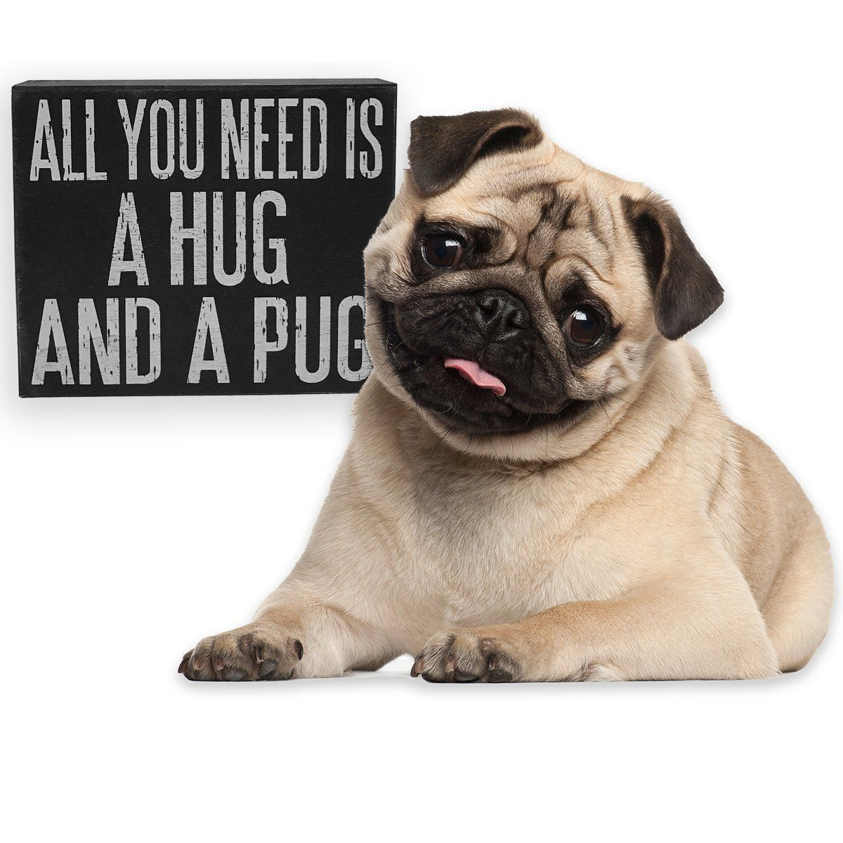 Wooden Sign All You Need Is A Hug And A Pug Pugs Pug Puppies
