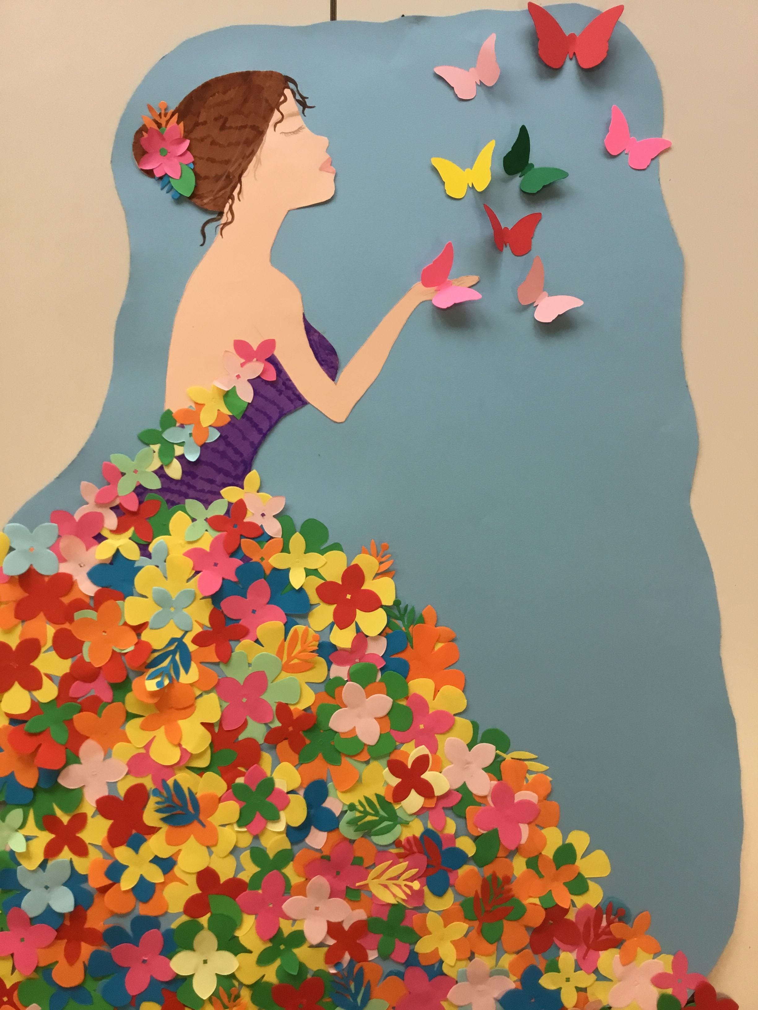 имеет небольшой платье для весны из бумаги поделки картинки местах