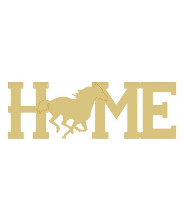 Home\' Horse Cutout DIY Wall Décor #zulily #zulilyfinds | Assorted ...
