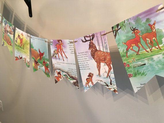 Bambi Banner Baby Shower Bunting