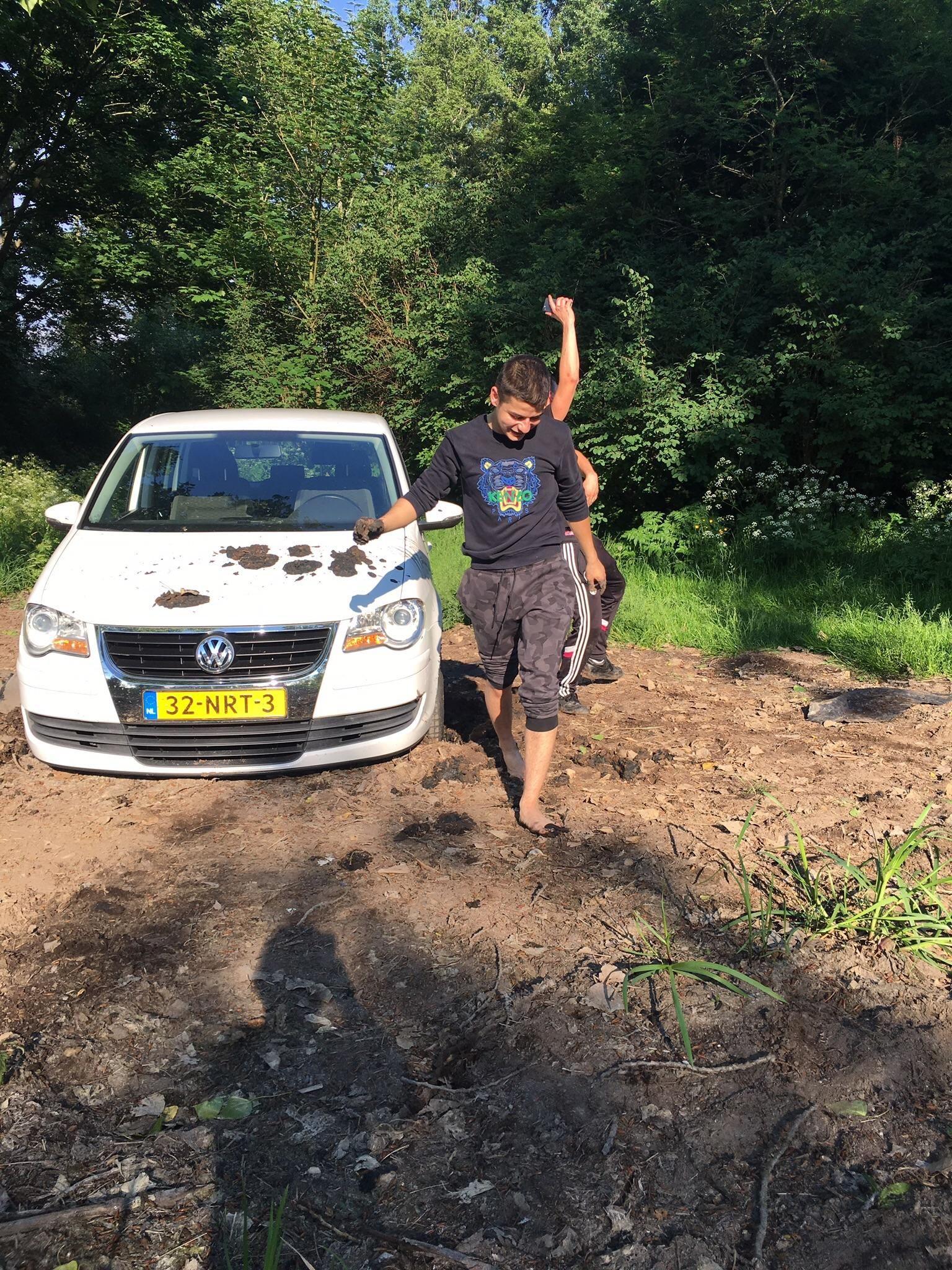 Got stuck in mud