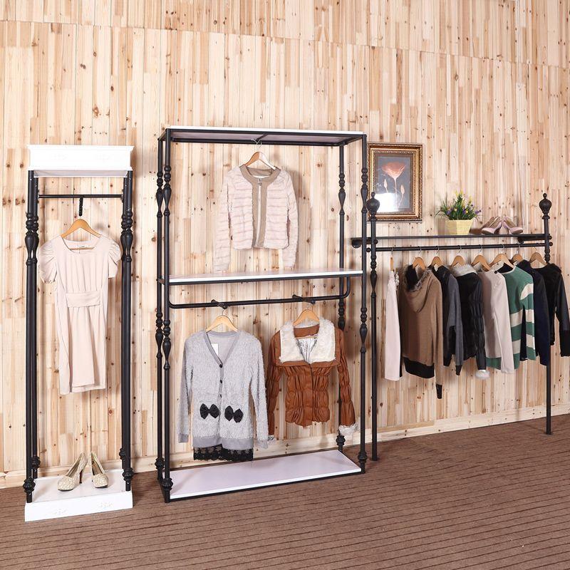 Ferro prateleira cabide loja para homens e mulheres(China (Mainland))