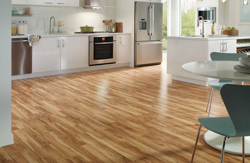 Quickstep floors classic flaxen spalted maple 2 strip for Laminate floor coverings for kitchens