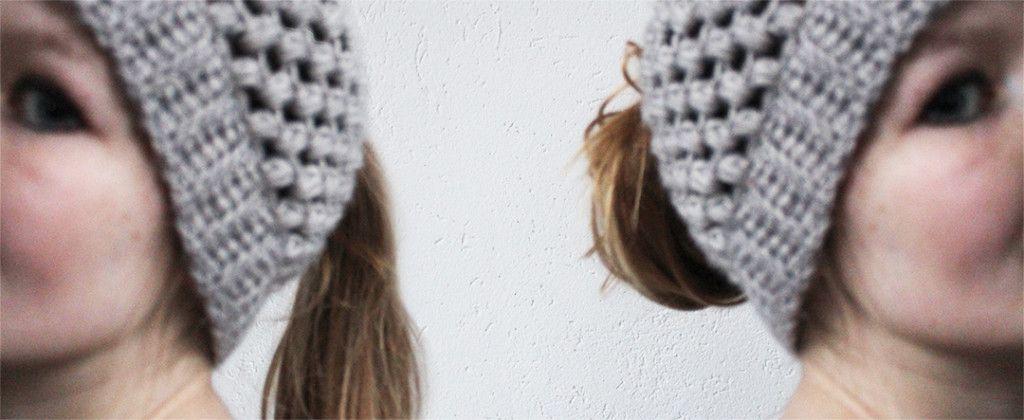 Puff stitch bun hat - free crochet pattern | crochet | Ganchillo ...