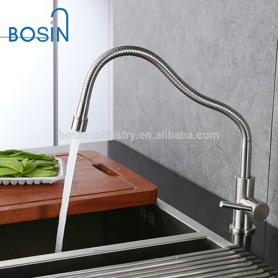 1 way Stainless Steel Universal Spout cool water Kitchen Sink Faucet ...