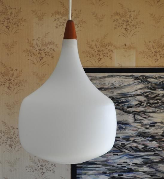 Lamp from sweden teak and glass scandinavian modern furniture lighting design and interior