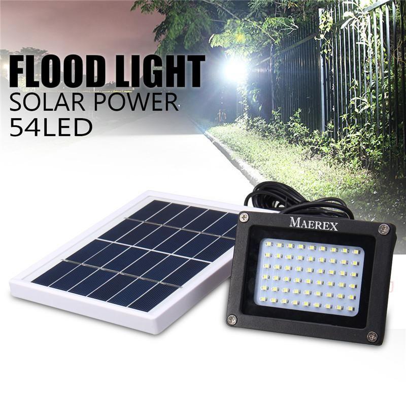 Mising Solar 54 Leds Dark Sensor Solar Light Solar Lamp Light Spotlight Wall Lamps Floodlight Outdoor Emergency Flood Light Solar Flood Lights Solar Lights
