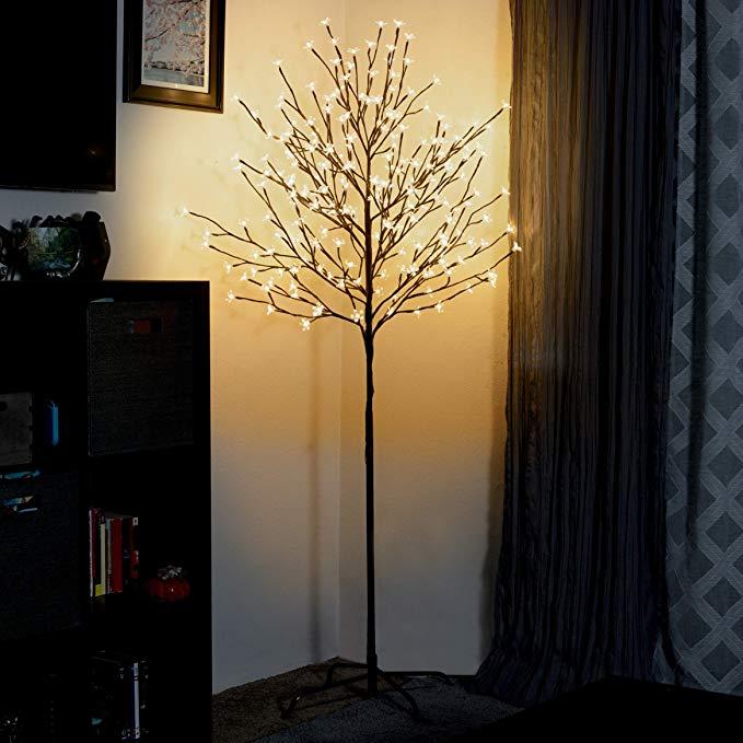 Amazon Com Asani Cherry Blossom Tree Light For Holiday And Home Decor 6 Foot Artificial Light Light Decorations Cherry Blossom Light Tree Cherry Blossom Tree
