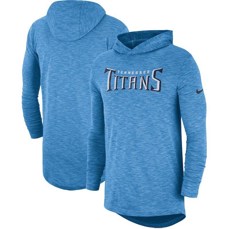 great deals 2017 on feet shots of newest Tennessee Titans Nike Sideline Slub Performance Hooded Long ...