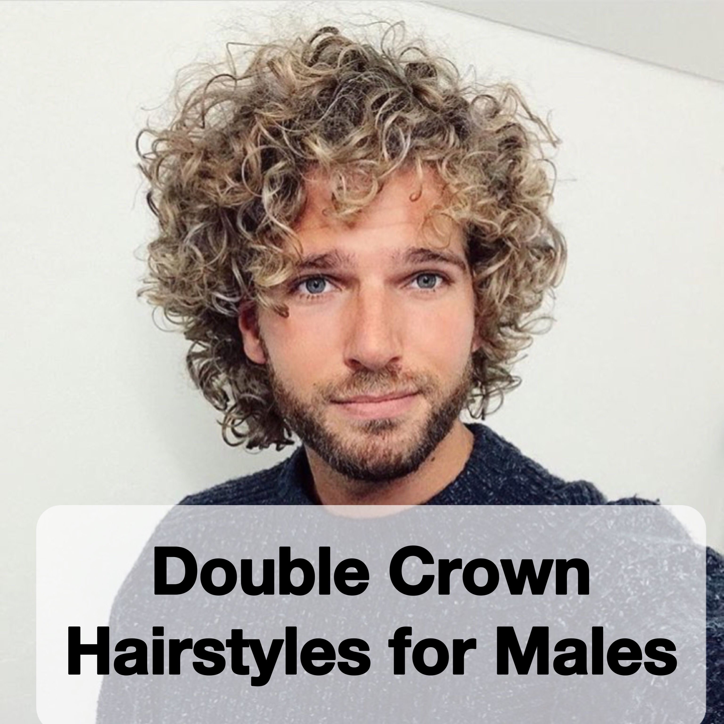 double crown hairstyles for males | curly & wavy hair