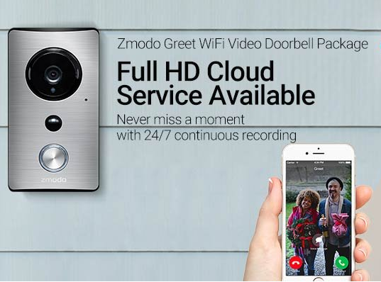 Zmodo ZMKSH004W Greet WiFi Video Doorbell with Beam