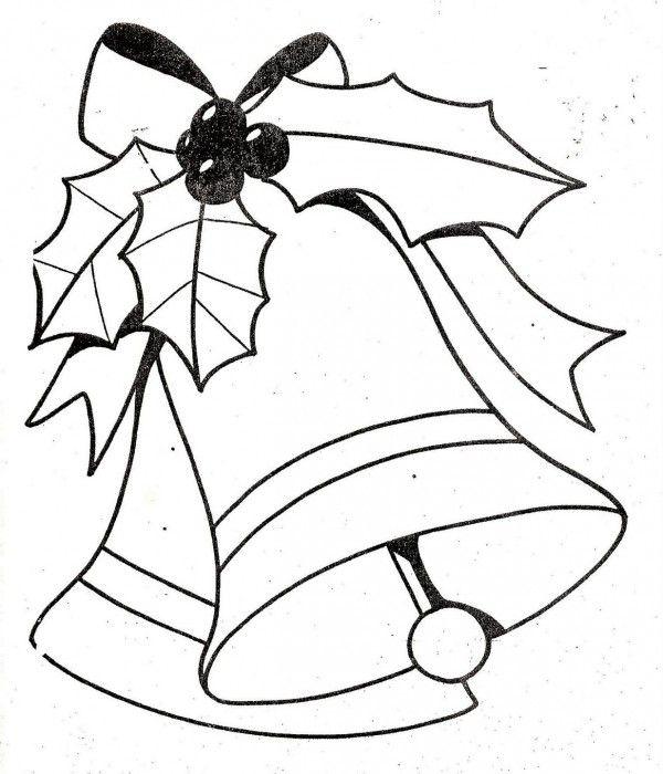 Dibujos De Navidad Para Colorear 5 Campanas De Navidad