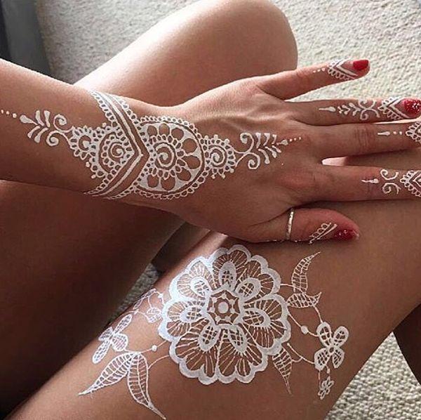 25 Amazing White Henna Designs Cuded Henna Tattoo Designs Henna Designs Hand White Henna Tattoo