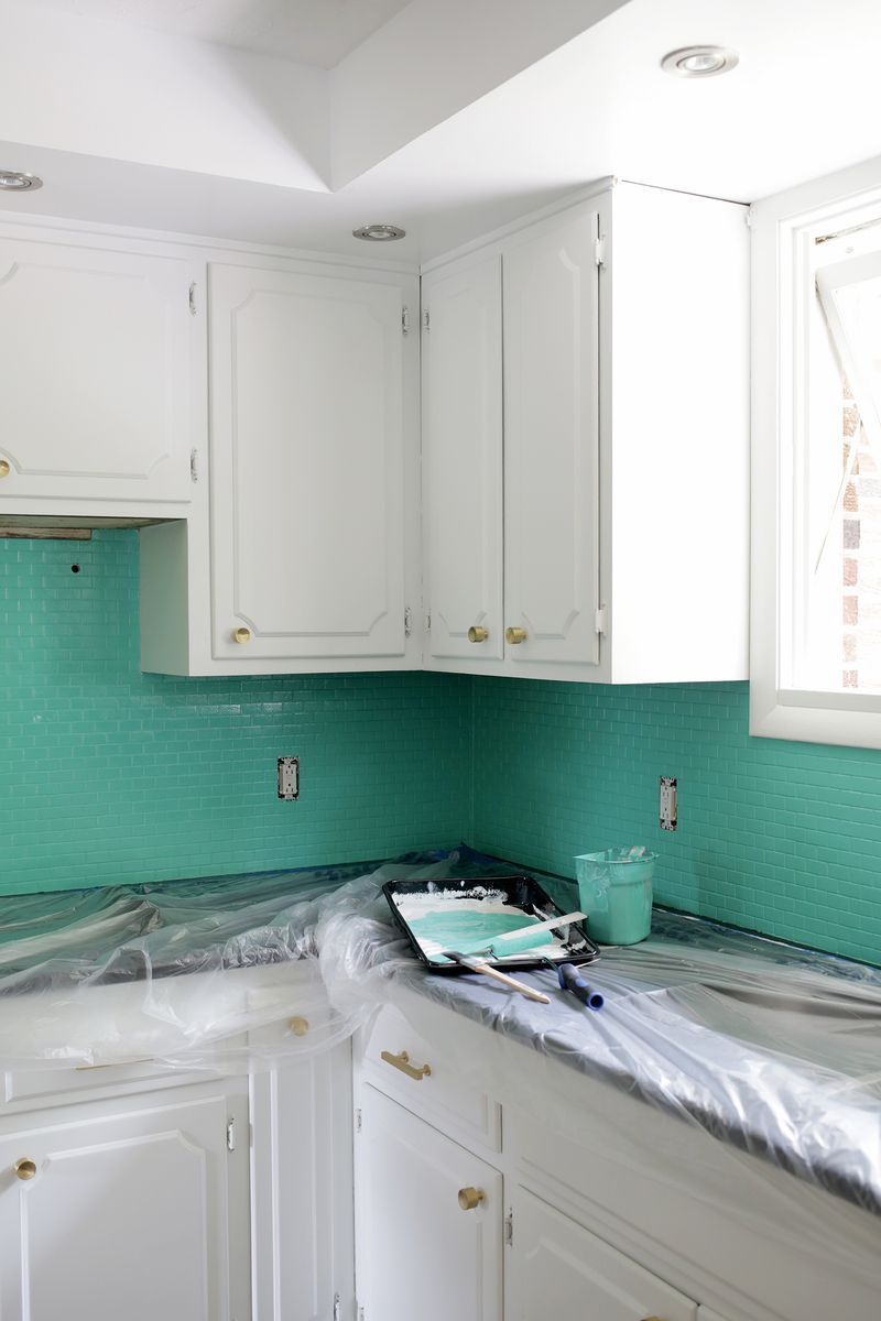 How to Paint a Tile Backsplash | Pinterest | Tutorials, Kitchens and ...