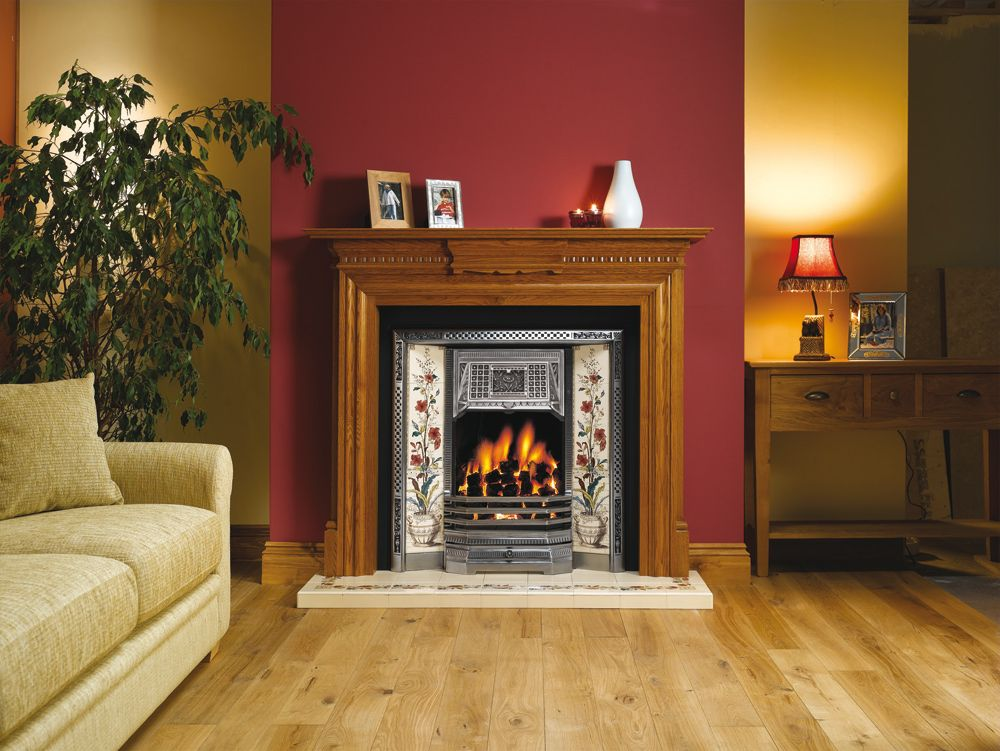 Victorian Tiled Fireplace … (With images) | Feature wall ...