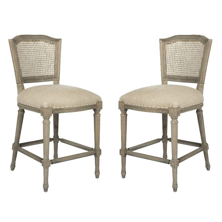 These counter stool would go with any decor Belle Maison Furniture French Caned Furniture Cane Back French Counter Stools