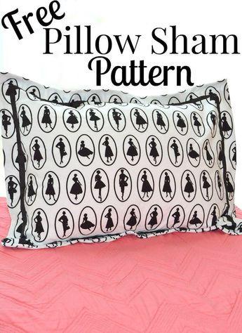 Free Pillow Sham Pattern Quilting Pinterest Pillows Patterns