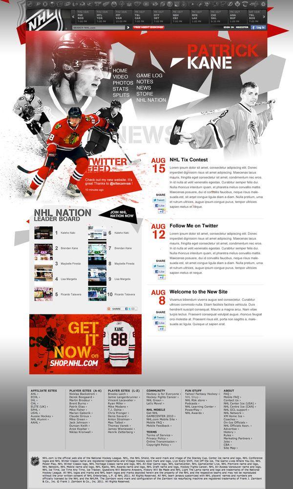 NHL Athletes by Kaleho Naki, via Behance (mit Bildern