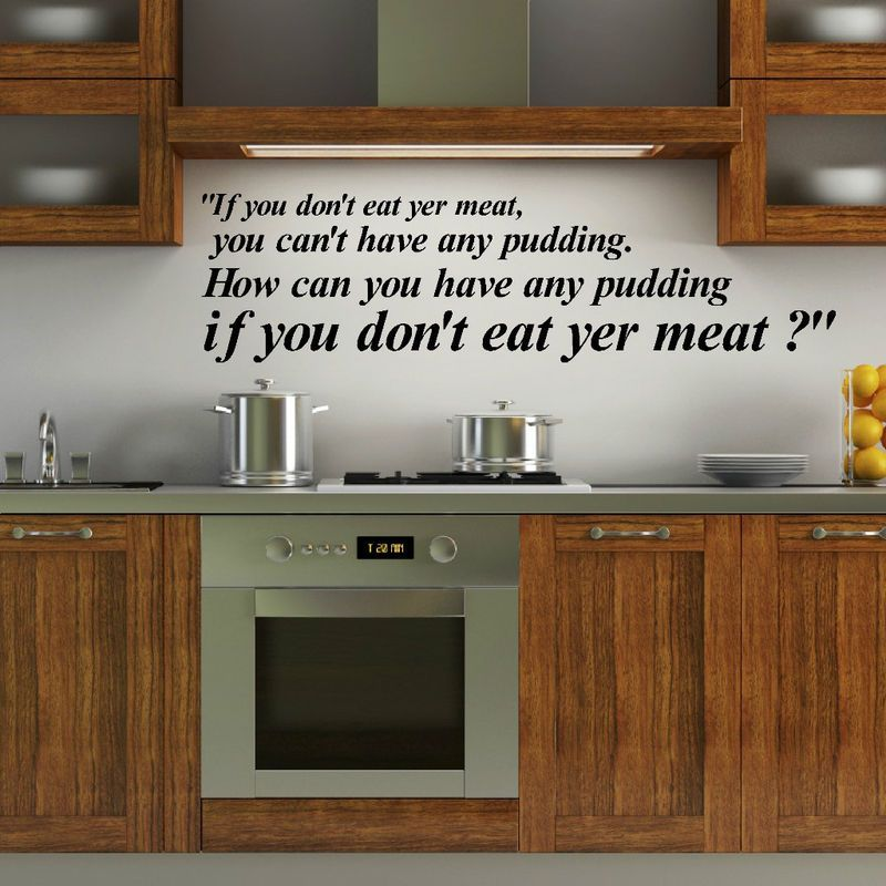 Pink Floyd Lyrics If You Dont Eat Yer Meat Wall Quote Kitchen Dining Room Vinyl