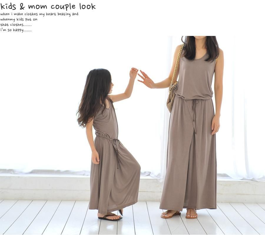 bba797fd0202 Hot sale mother and daughter family matching outfit summer fashion long  girls Modal maxi elegant dress child clothes teenager from shandianxia, ...