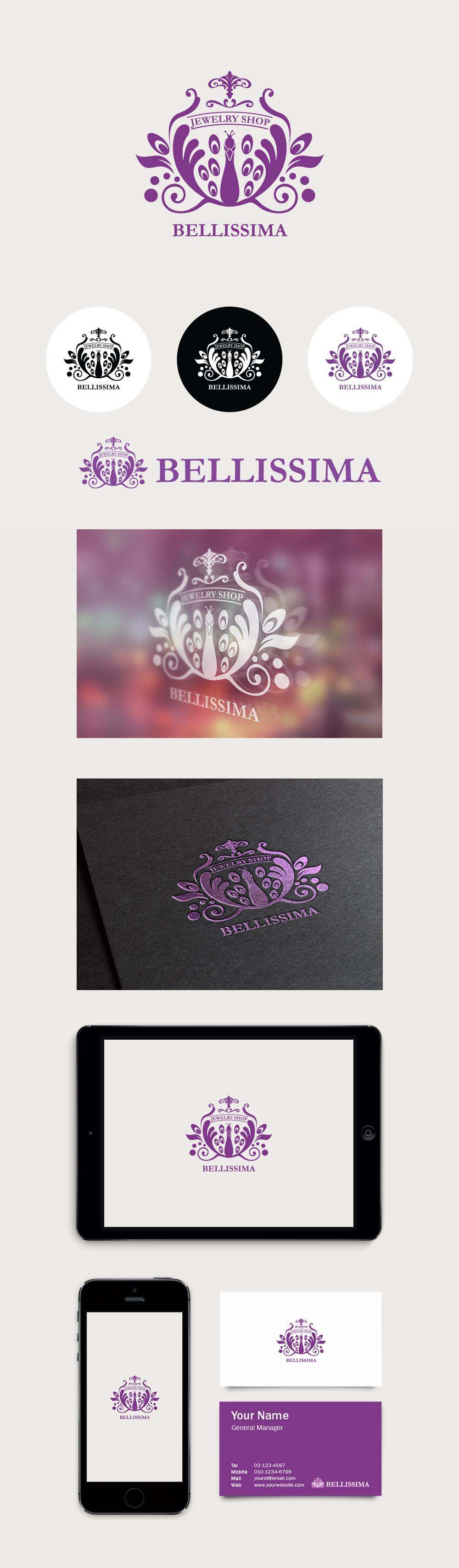 아름다운 여자를 닮은 Purple Peacock (Logo Design By Conoi