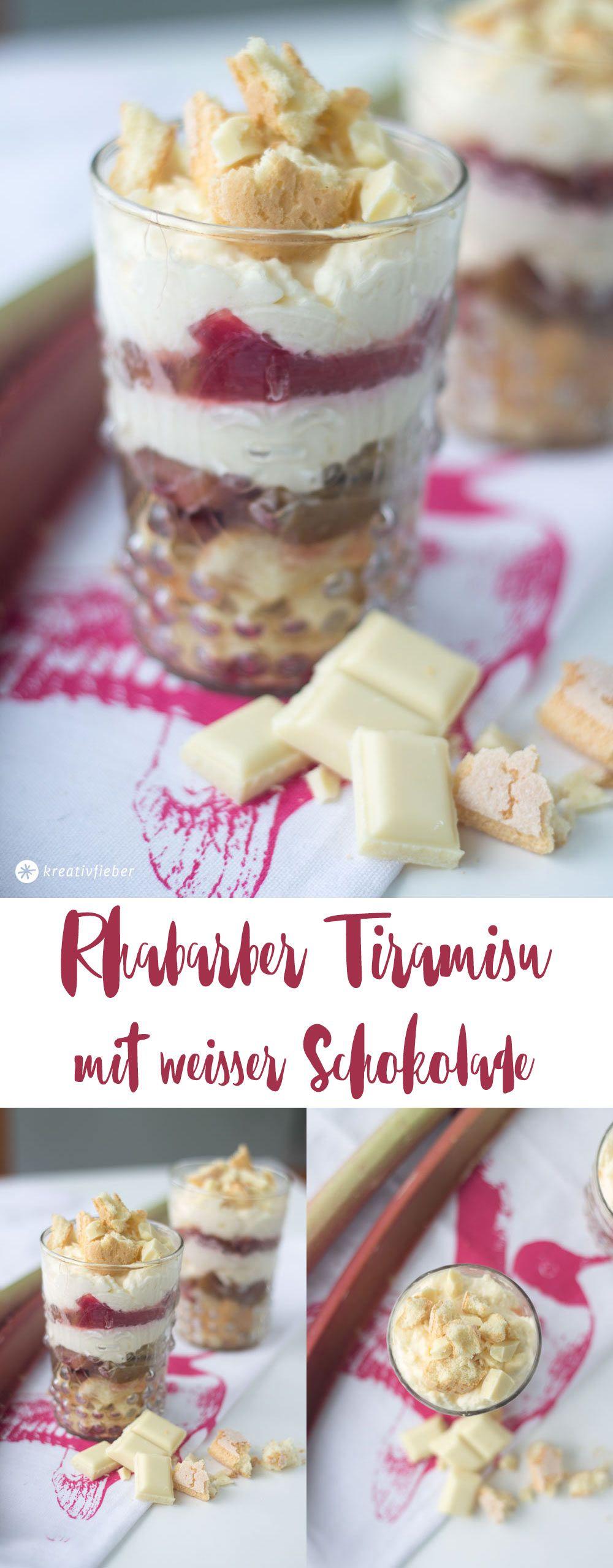 Rhabarbertiramisu mit weißer Schokolade #einfachernachtisch