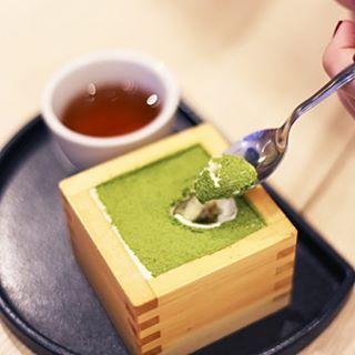 Delicious matchamisu dessert at a dedicated 'Matcha House' in Kuala Lumpur  www.zengreentea.com.au #matcha #superfood