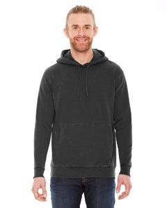 Authentic Pigment Unisex French Terry Hoodie AP207 BLACK