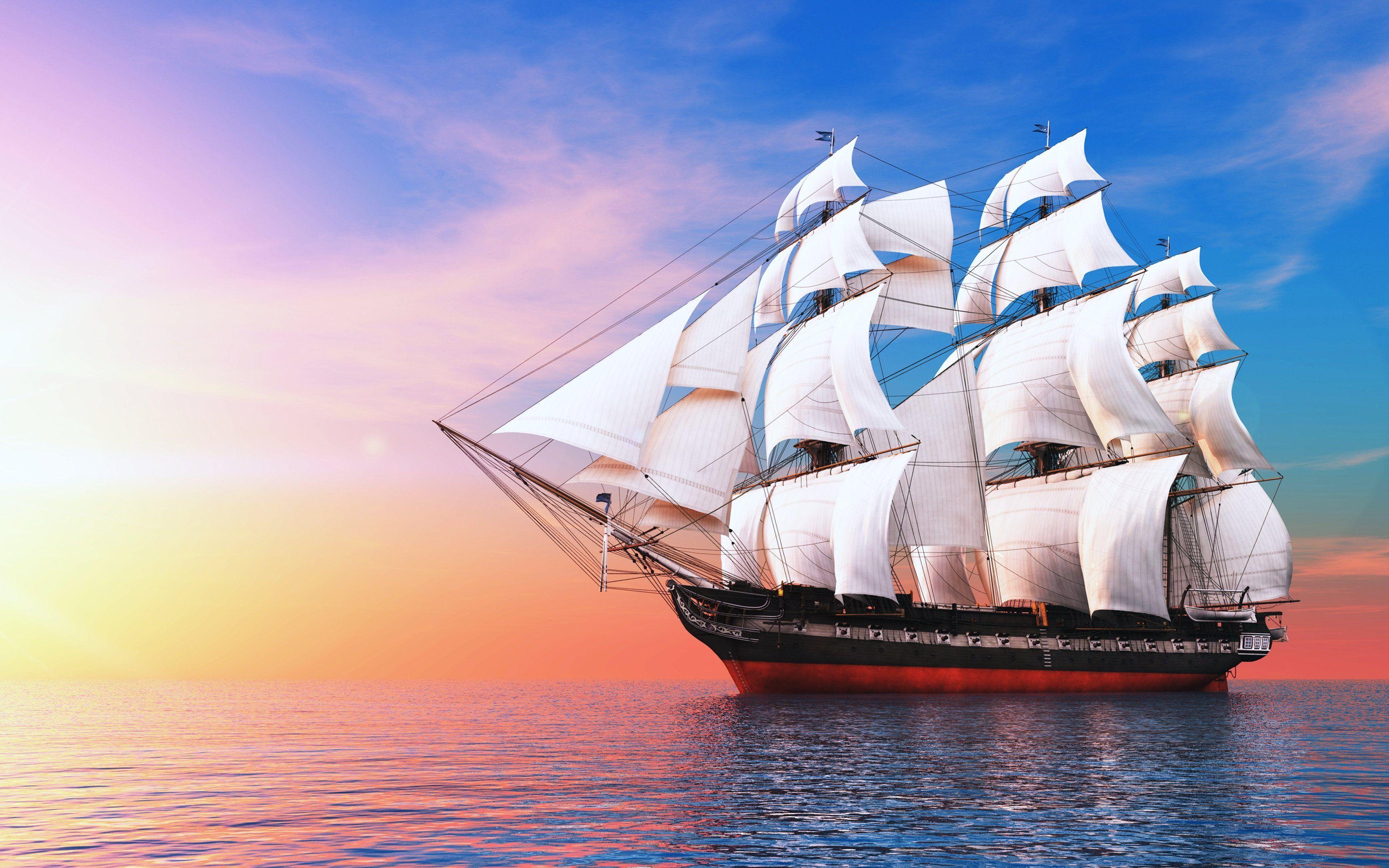Sailing Ship Wallpaper Jpg 3840 2400 Sailing Ships Sailing Ocean Sailing