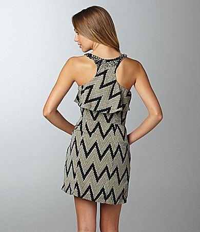 Aryn K. Zigzag Crepe Dress | Dillards.com