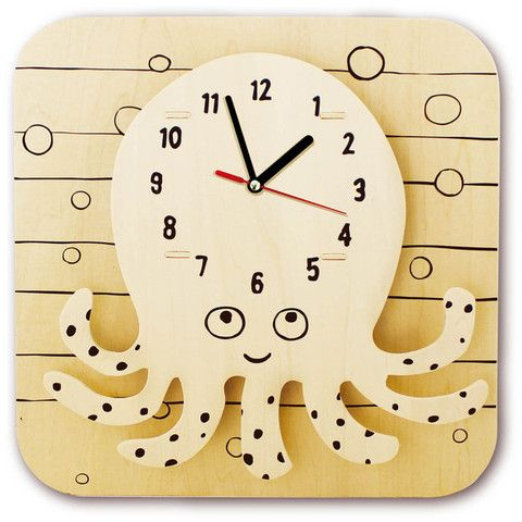 Drawing a cartoon clock Octopus - SuperSmartChoices - 1   Baby ...