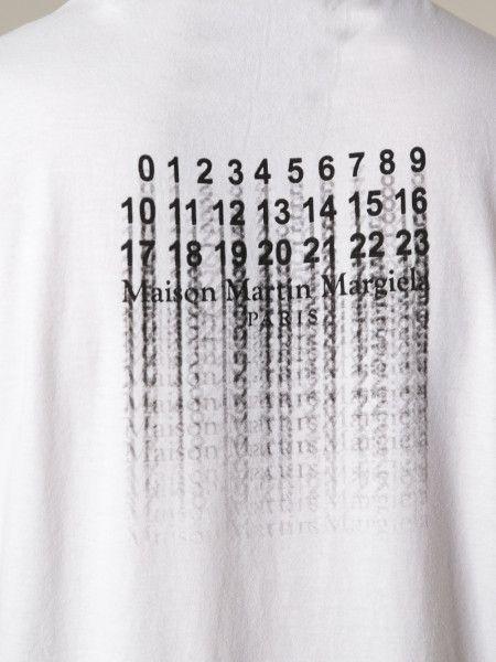 e297359315fc Maison Margiela Faded Print Tshirt in White for Men | Lyst ...