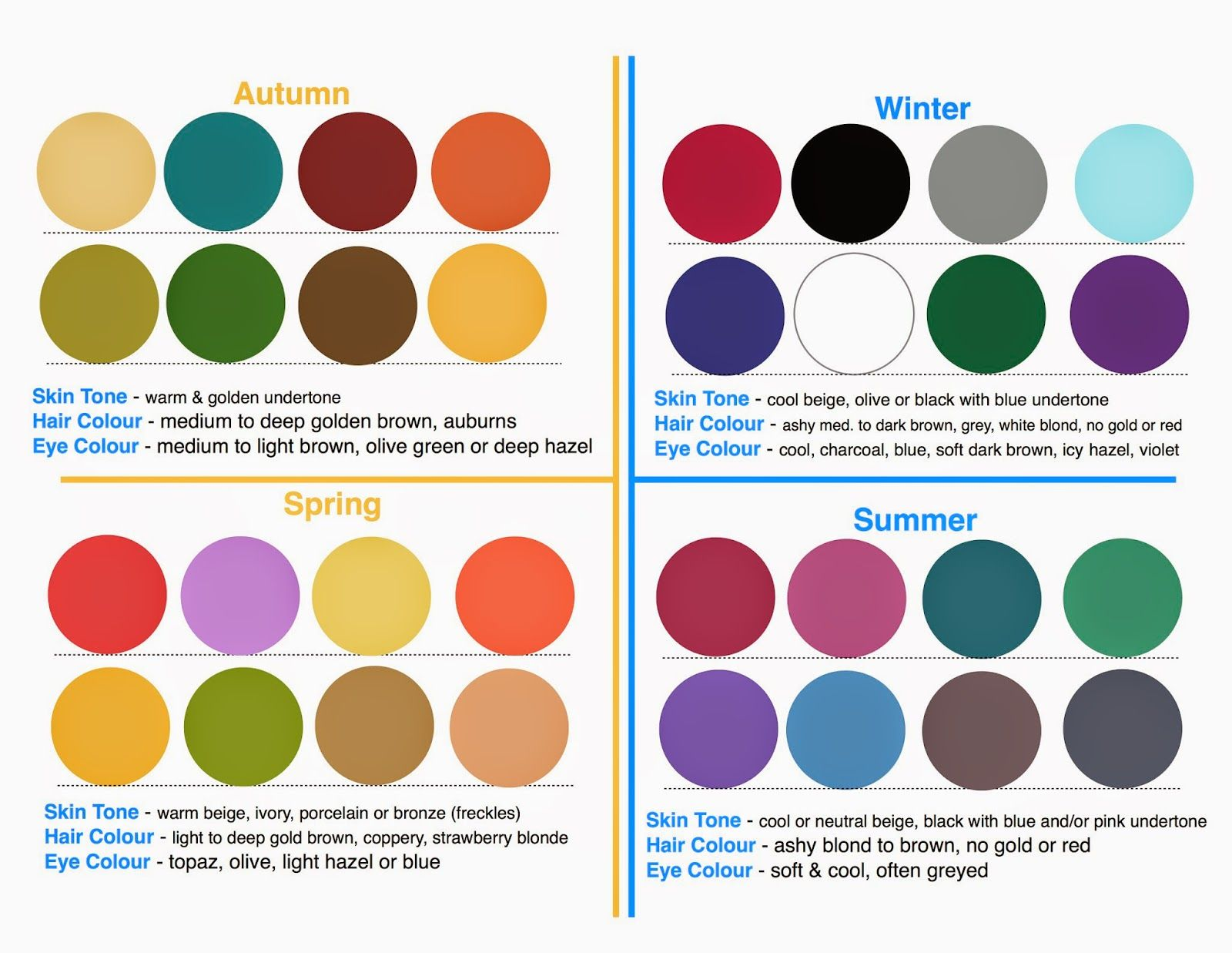 Words on Home: Seasonal Colour Palettes | colour analysis ...