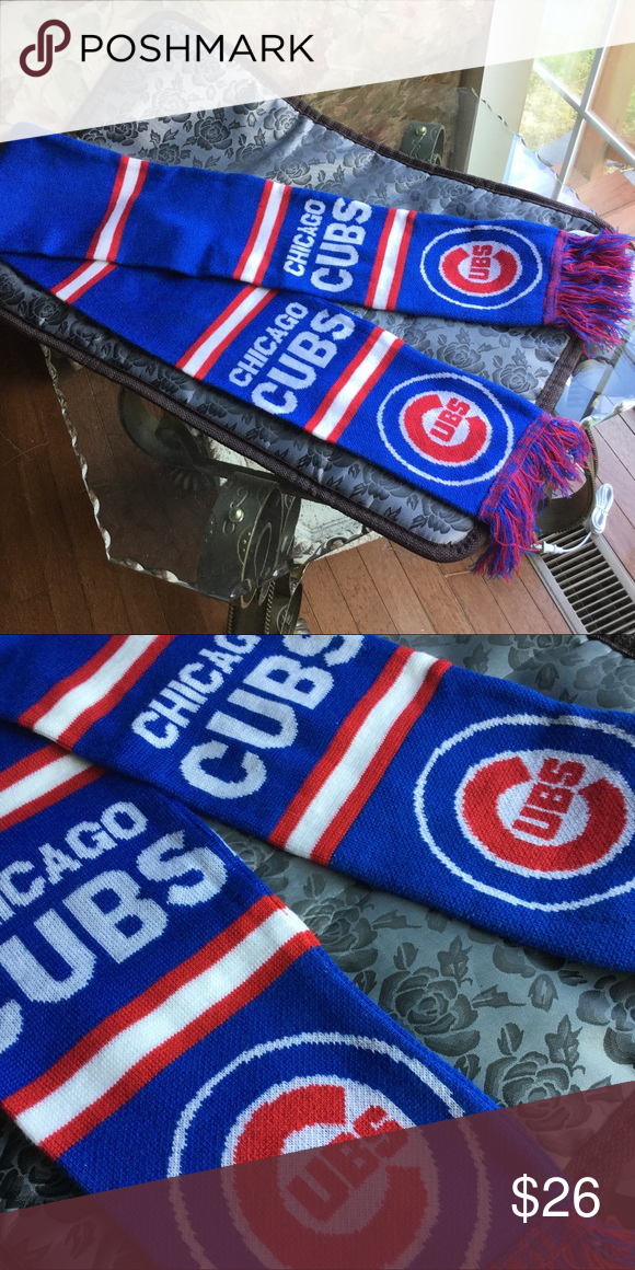 Chicago Cubs Fringe Baseball Scarf Chicago cubs, Chicago