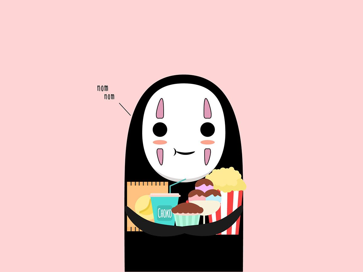Kaonashi Also Knows As No Face From Spirited Away Studio Ghibli Art Ghibli Art Animation Studio