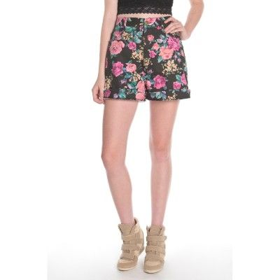 Floral Jean Shorts #StacksOnRacks