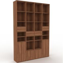Photo of Holzregal Nussbaum – Modernes Regal aus Holz: Schubladen in Nussbaum & Türen in Nussbaum – 156 x 233