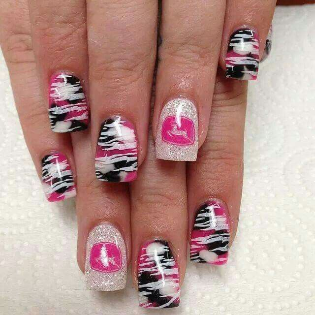 John Deer Pink Camo Nails Hair Makeup And Nail Stuff Pinterest