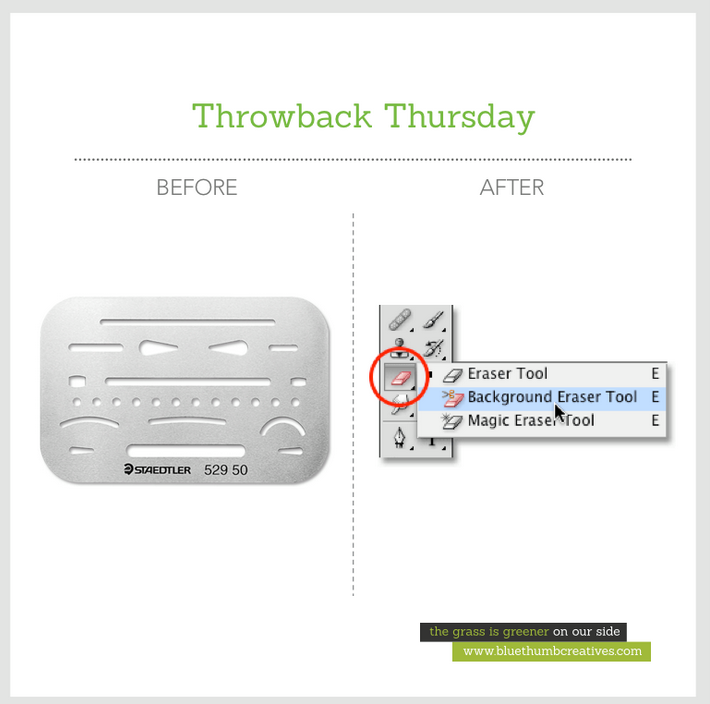 """#Art students are familiar with this """"#eraser #shield"""". It's a thin sheet of steel or plastic, designed to allow certain lines to be erased without removing the other lines close by   www.bluethumbcreatives.com #tbt #artist #tools"""