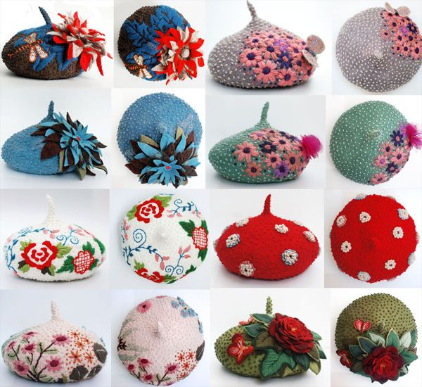 Hand made berets. Please, may I have one??