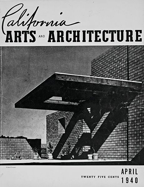 Sturges Residence appears on the cover of California Arts