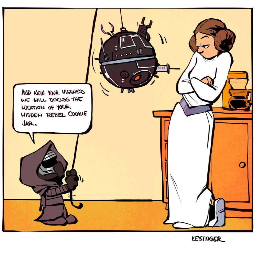 Calvin Hobbes And The Force Awakens Star Wars Comics Star Wars Humor Star Wars Art