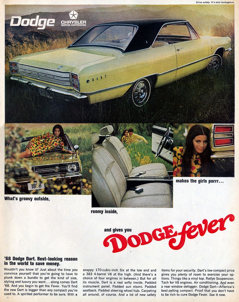 Dodge Fever Ad 1967 Dodge Dart 1968 Dodge Dart Dodge