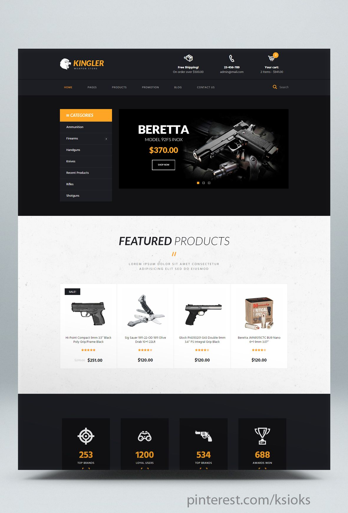Pin On Html Online Store Templates